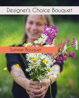 Designer's Choice With Summer Feel Flower Arrangement