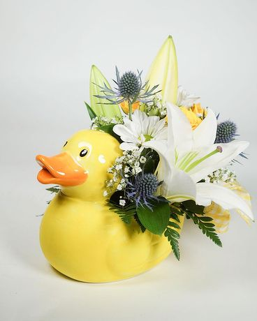 Cute Mini Duck Flower Arrangement