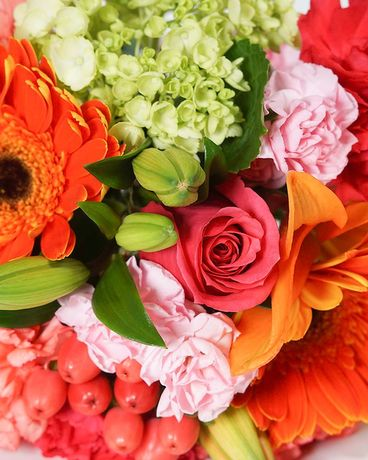 Designer's Choice: Sunset Colors Flower Arrangement