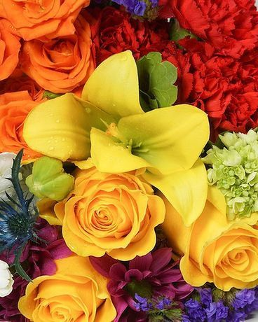 Designer's Choice: Bright and Cheery Colors Flower Arrangement