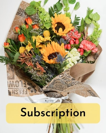 That's a Wrap - Subscription Flower Arrangement