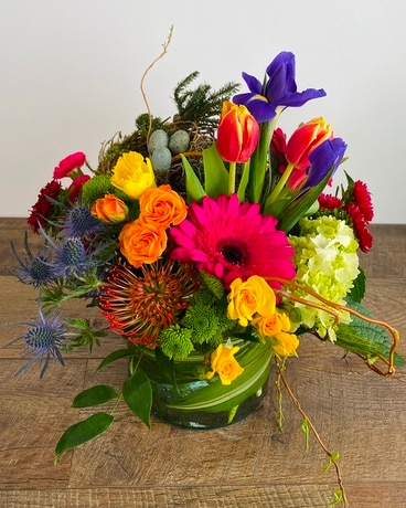 Hatching Spring Flower Arrangement