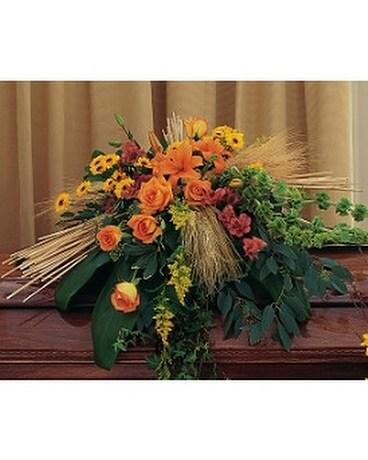 Autumn Faith Casket Spray In Oklahoma City Ok Array Of Flowers Gifts