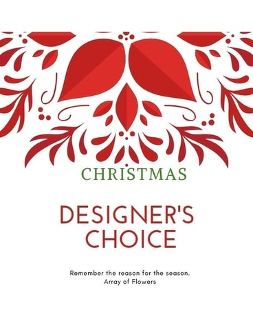 Christmas Designer's Choice Flower Arrangement