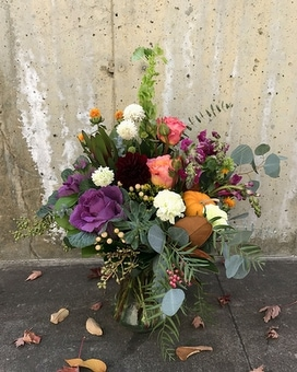 Warm Harvest Flower Arrangement