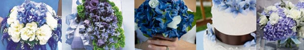Wedding flower arrangements blue flowers event flowers