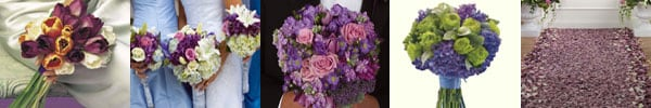 Wedding flower arrangements purple flowers event flowers
