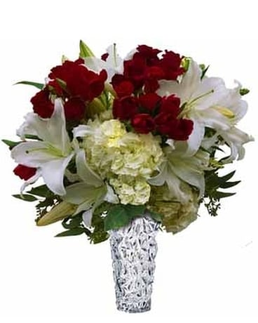 White Lilies Roses And Tulip Vase In Santa Monica Ca Edelweiss