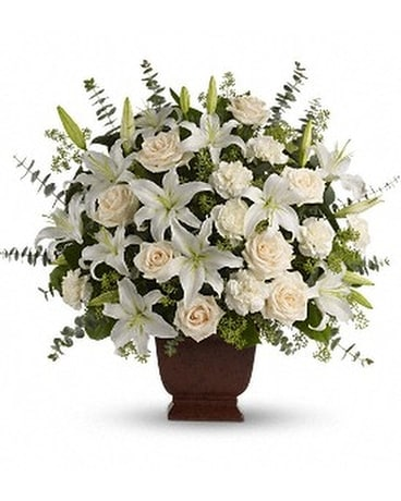Edelweiss' Loving Lilies and Roses Bouquet Flower Arrangement