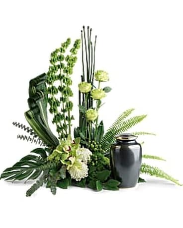 Tranquil Peace Cremation Tribute Flower Arrangement
