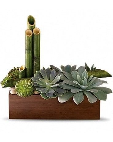 Peaceful Zen Garden Flower Arrangement