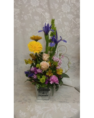 Happy Spring Garden Flower Arrangement