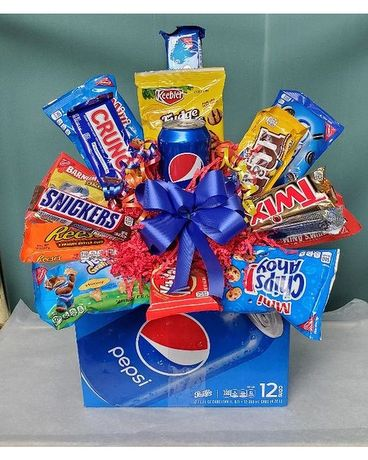 Pepsi Snack Pack Flower Arrangement
