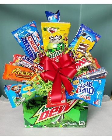 Mountain Dew Snack Pack Flower Arrangement