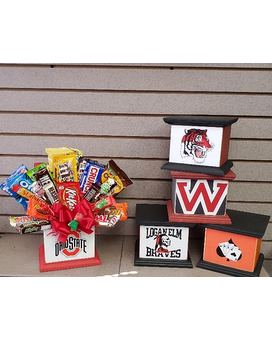 OSU Candy Bouquet Flower Arrangement