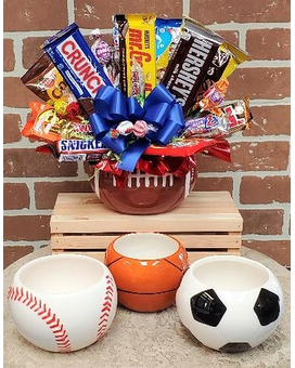 Sports Candy Bouquet Flower Arrangement