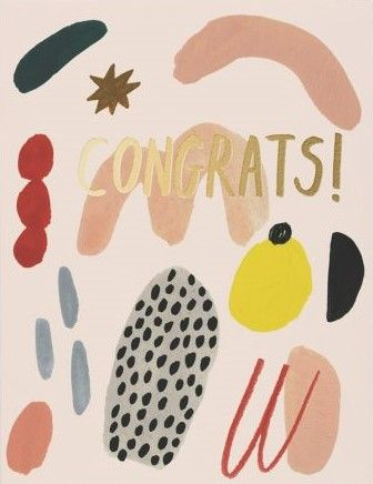 'Congrats!' Greeting Card