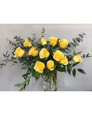 AVOF Yellow Roses Flower Arrangement
