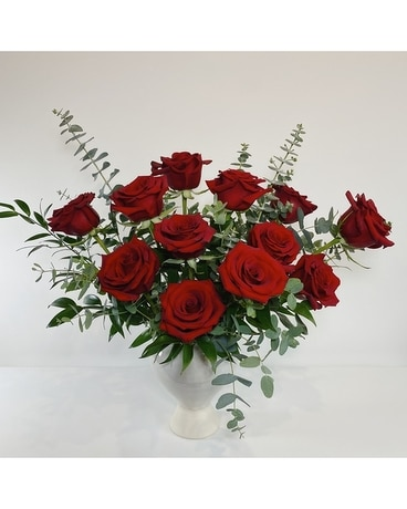 Dozen Red Roses - Our Style Flower Arrangement