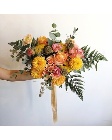 Amber Wedding Bouquet Flower Arrangement