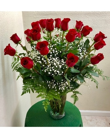 2 Dozen Red Roses Flower Arrangement