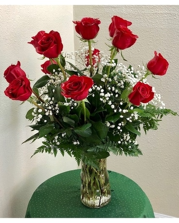 1 Dozen Red Roses Flower Arrangement