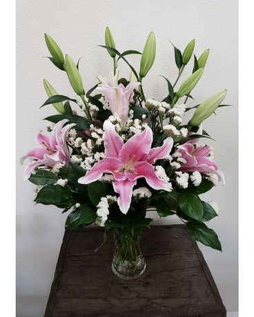 J&S For The Love Of Lilies Flower Arrangement