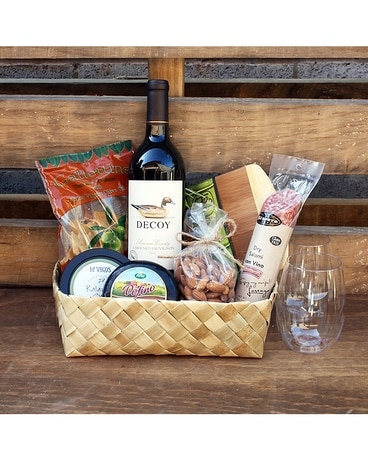 Wine and Cheese Basket Gift Basket