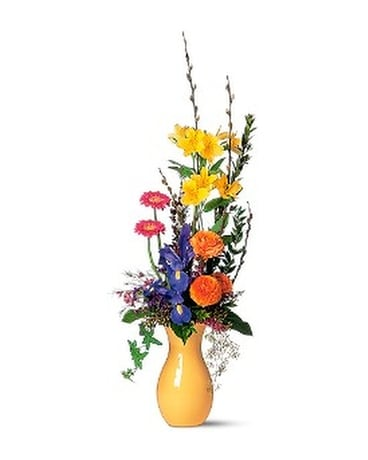 Grouped Spring Vase Flower Arrangement