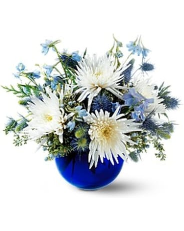 Winter's Sky Flower Arrangement