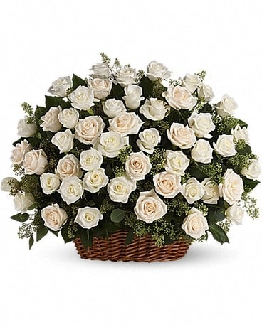 Bountiful Rose Basket/T233-1AA Flower Arrangement