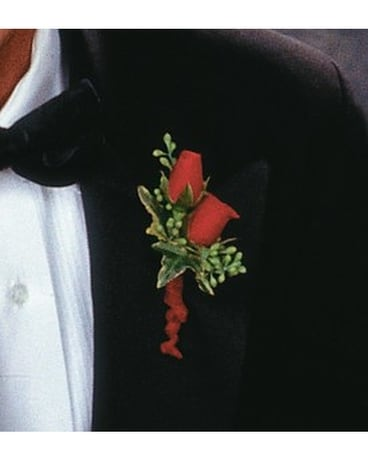 Red-Hot Roses Boutonniere Boutonniere