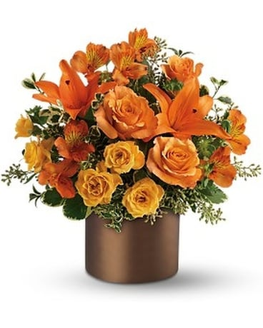 Teleflora's Sunset Glow Flower Arrangement