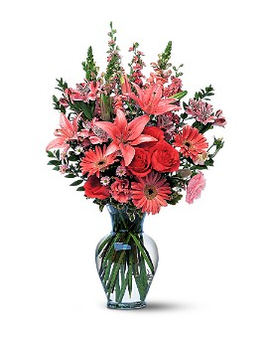 Marvelous Pinks Flower Arrangement