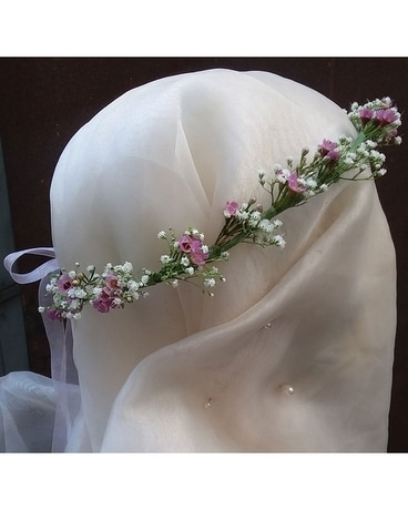 Delicate Pink & White Head Wreath $60 Flower Arrangement