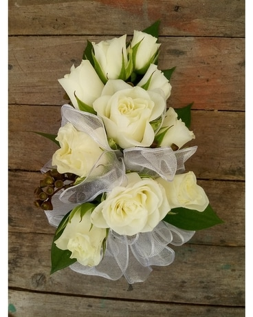 White Rose Corsage -$40.00 Corsage