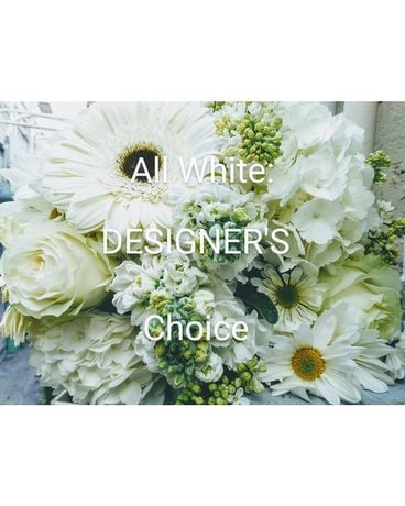 All White Designer's Choice Arrangement