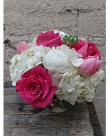 Spring Pinks & Whites Flower Arrangement