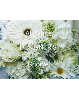 All White Designer's Choice Arrangement Flower Arrangement