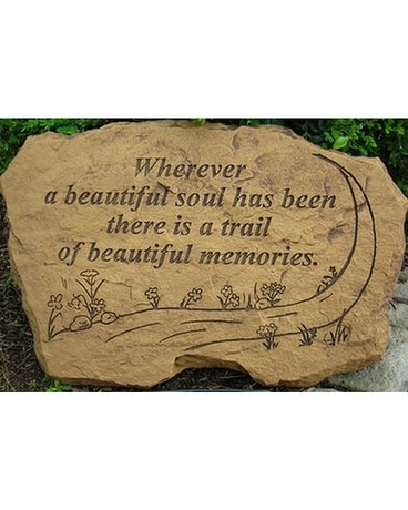 A Trail of Beautiful Memories Painted Stone