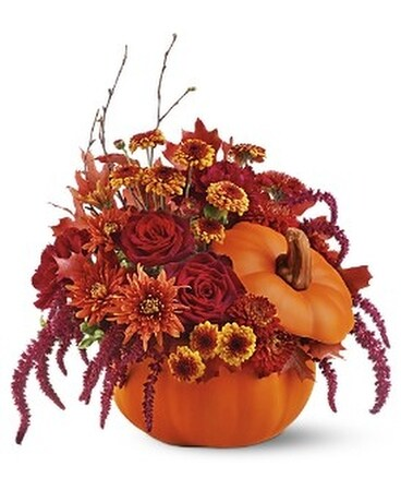 Teleflora's Bewitching Pumpkin Bouquet Flower Arrangement