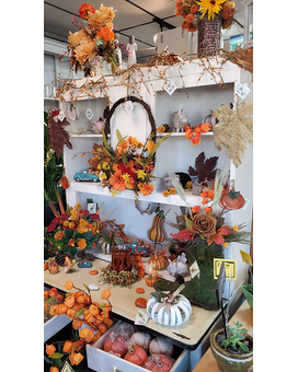 Large Selection of Fall Decor and Gifts  Items Flower Arrangement