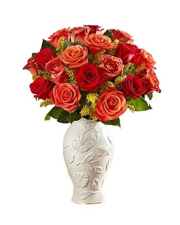 Autumn Sunset Bouquet In Lenox Vase In Bradenton Fl Oneco Florist