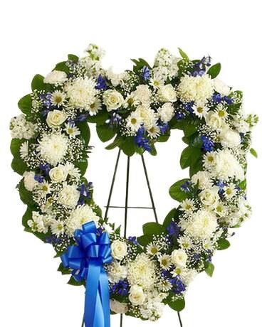 White Fl Heart Tribute