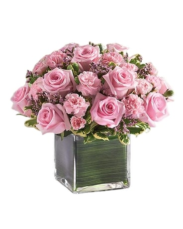 Pink Rose Fancy Flower Arrangement