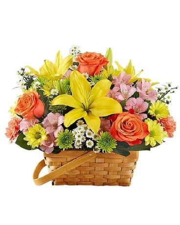 Fields of Europe Basket Flower Arrangement