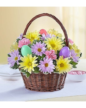 Easter Egg Basket Flower Arrangement