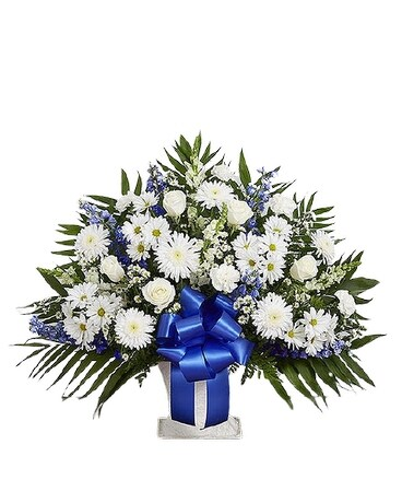 Heartfelt Tribute Blue And White In
