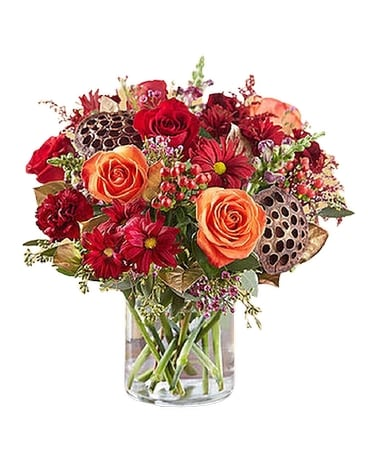 Vintage Autumn Blooms Flower Arrangement