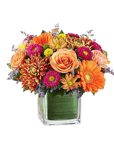 Brilliant Autumn Medley Flower Arrangement
